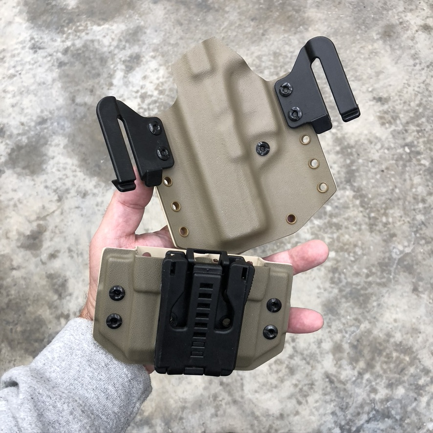 Constitution print holster and double mag carrier